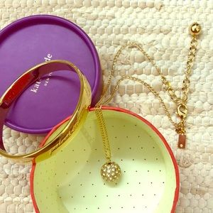 Kate Spade Best Friend necklace bangle set